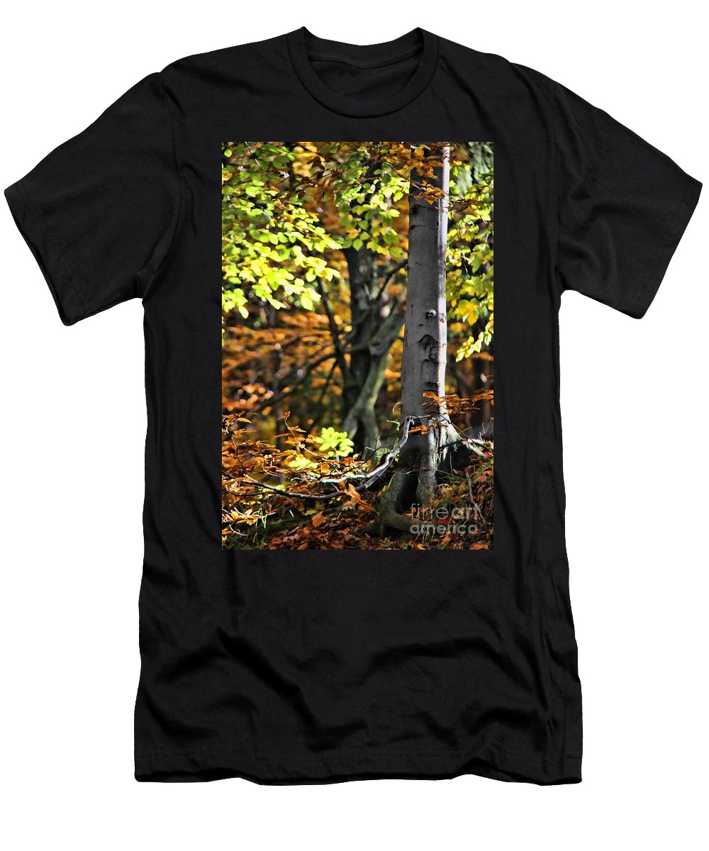 Fall Beauty Men's T-Shirt (Athletic Fit) featuring the photograph Fall Beauty by Mariola Bitner