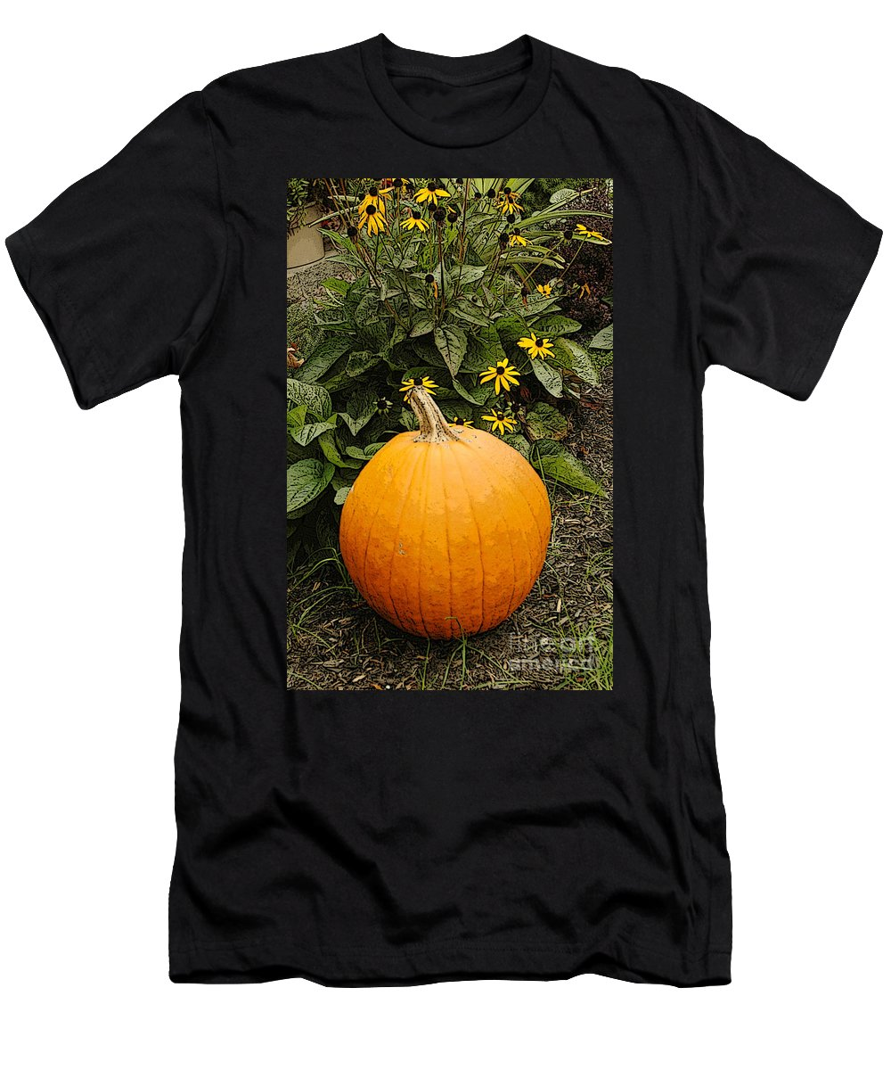 Fall Men's T-Shirt (Athletic Fit) featuring the photograph Fall Pumpkin by Kathleen Struckle