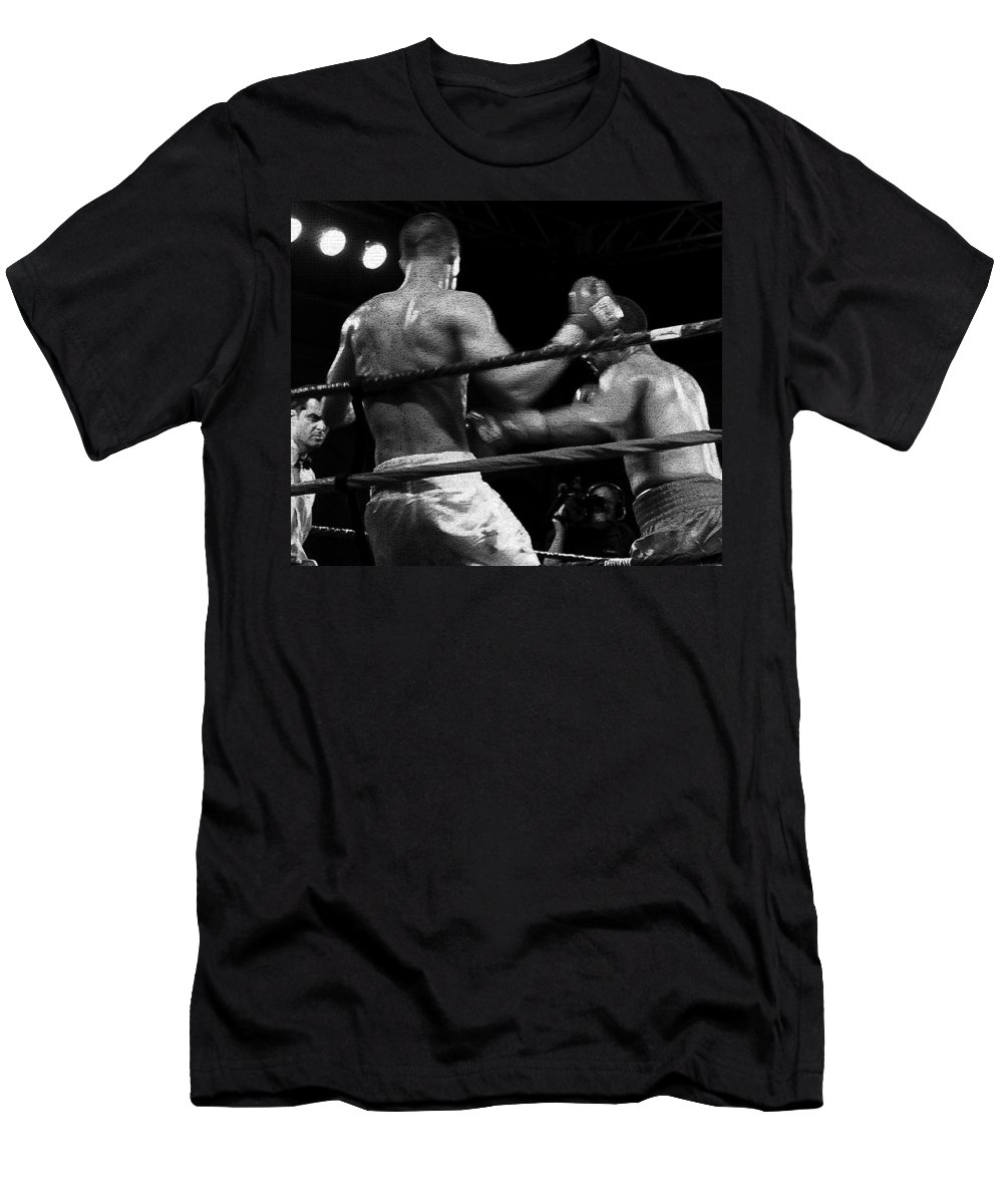 Digital Photography Men's T-Shirt (Athletic Fit) featuring the photograph Fight Game by David Lee Thompson