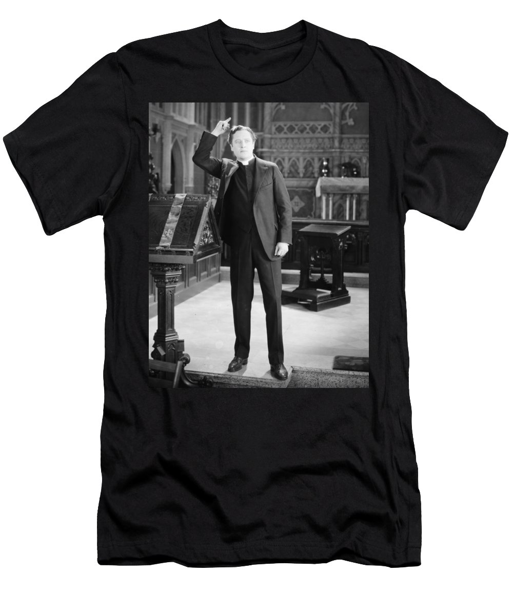 1925 Men's T-Shirt (Athletic Fit) featuring the photograph Film Still: The Fool, 1925 by Granger
