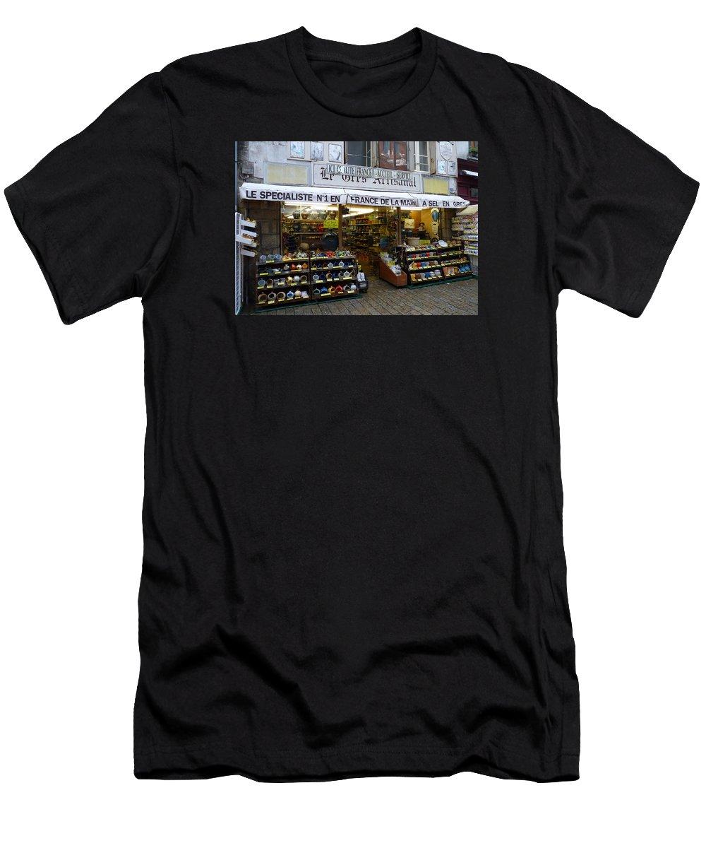 France Men's T-Shirt (Athletic Fit) featuring the photograph Fleur De Sel by Carla Parris