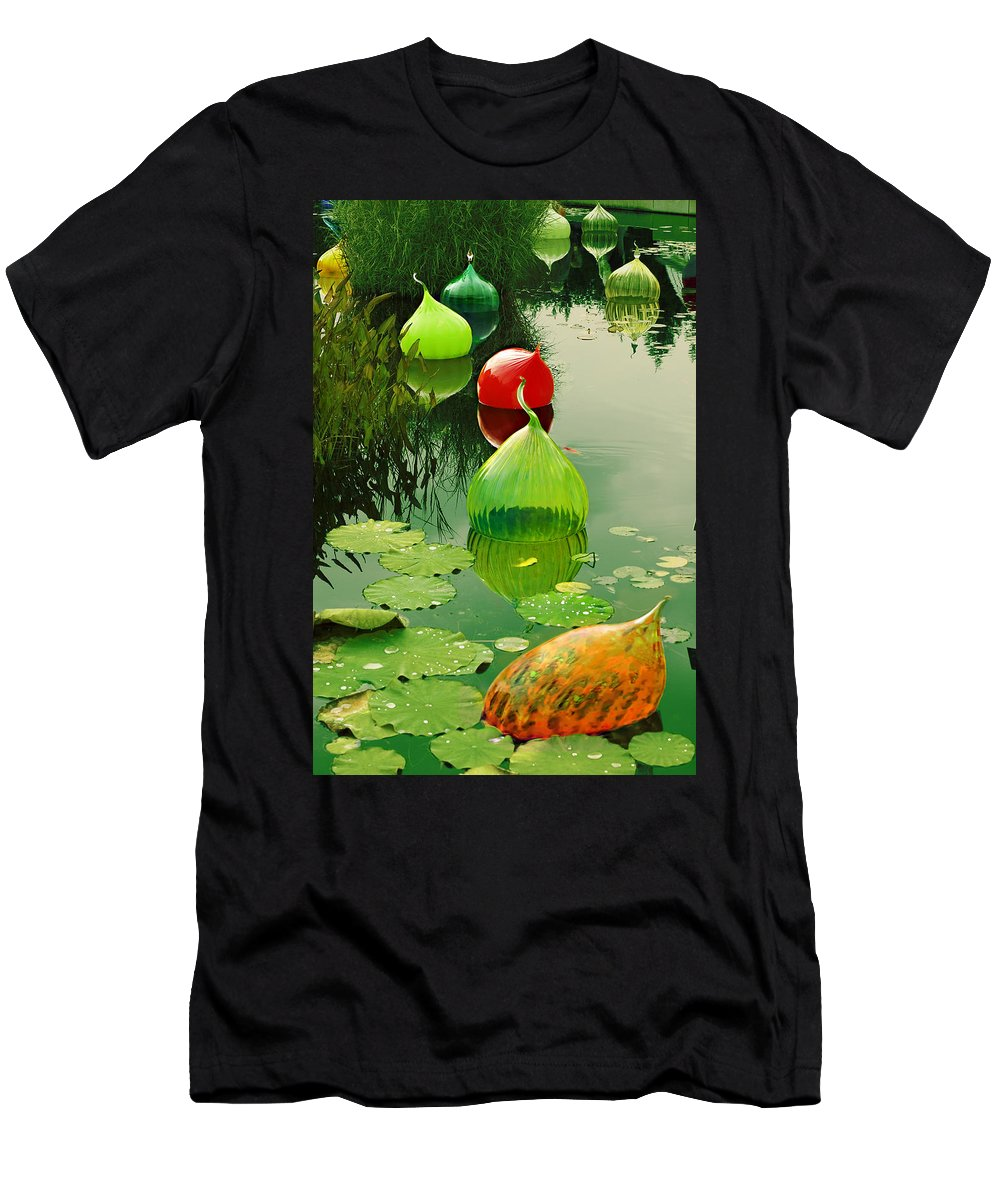 Water Men's T-Shirt (Athletic Fit) featuring the photograph Glass Sculpture Memories by Madeline Ellis