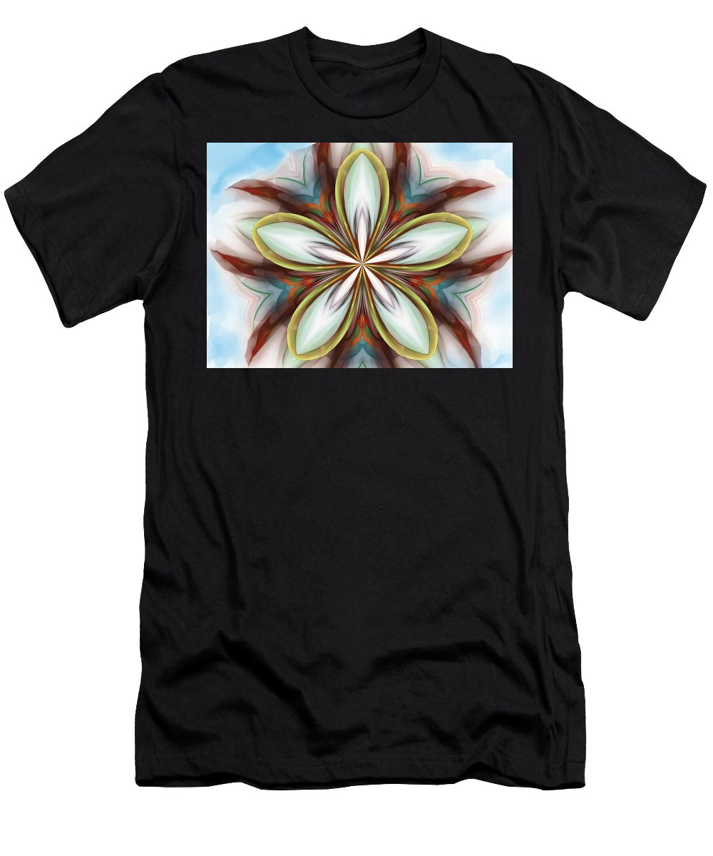 Fine Art Men's T-Shirt (Athletic Fit) featuring the digital art Floral Fantasy 090412 by David Lane
