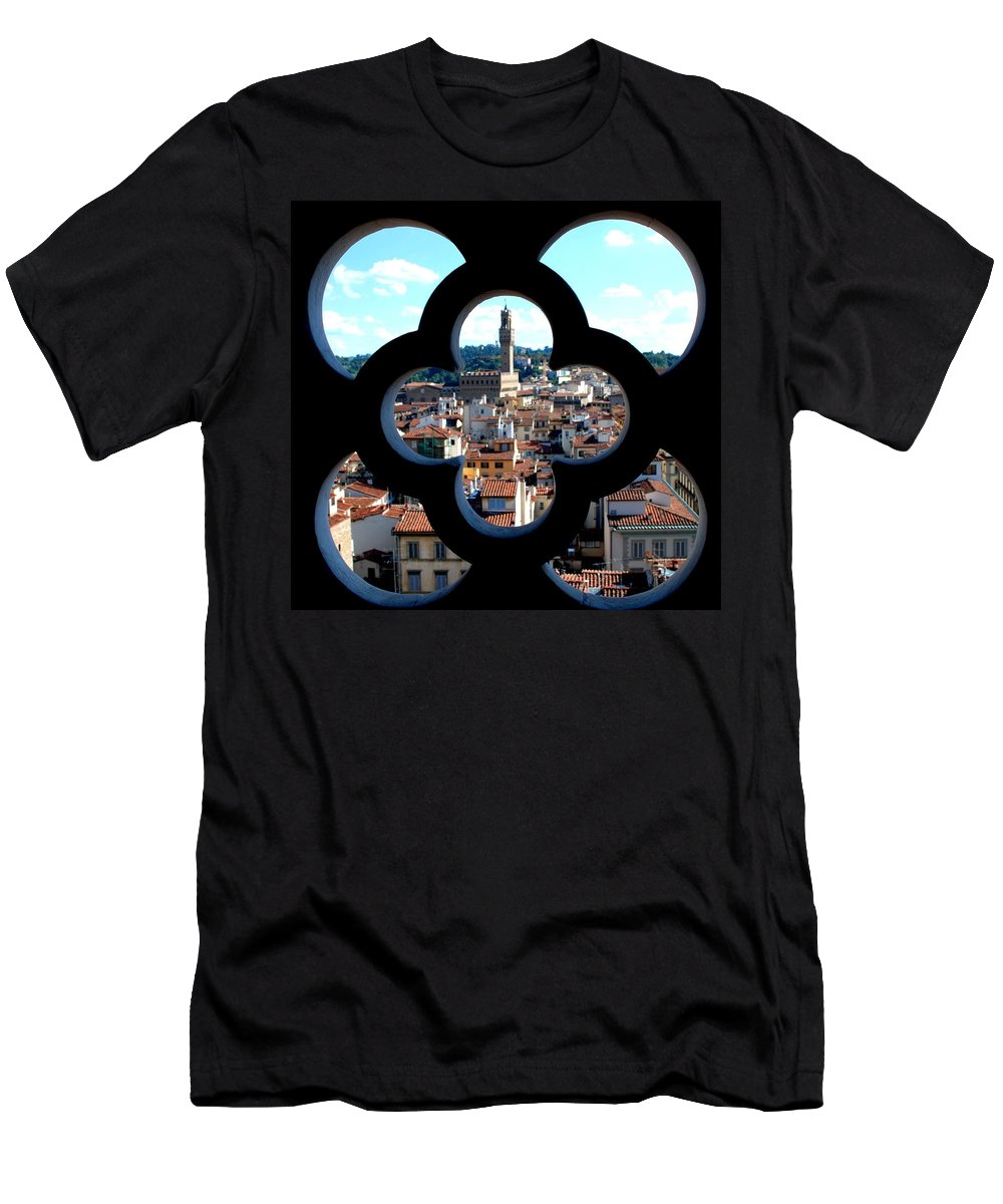 Florence Men's T-Shirt (Athletic Fit) featuring the photograph Florence Through A Unique Lens by Dany Lison