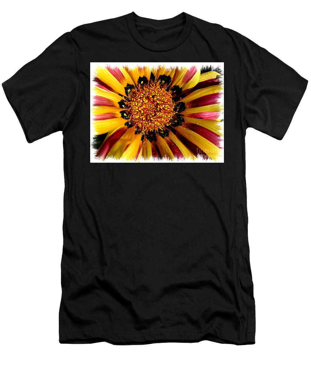 Flower Men's T-Shirt (Athletic Fit) featuring the photograph Flower Power by Carol Groenen