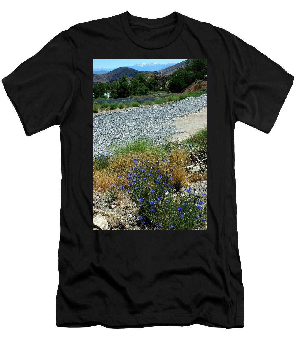 Usa Men's T-Shirt (Athletic Fit) featuring the photograph Flowers In The Gold Hill Desert by LeeAnn McLaneGoetz McLaneGoetzStudioLLCcom