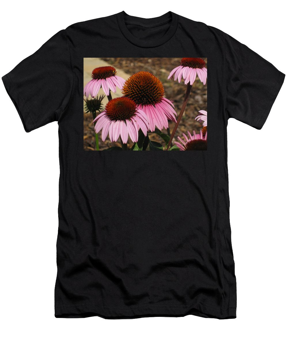 Coneflowers Men's T-Shirt (Athletic Fit) featuring the photograph Coneflowers by Megan Cohen