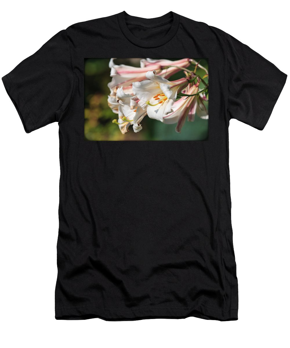 Flowers Men's T-Shirt (Athletic Fit) featuring the photograph Flowers by Mike Penney