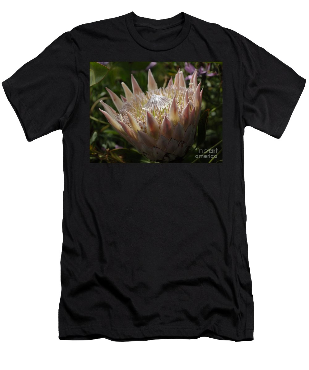 Flower Men's T-Shirt (Athletic Fit) featuring the photograph Flowers Of New Zealand 3 by Bob Christopher