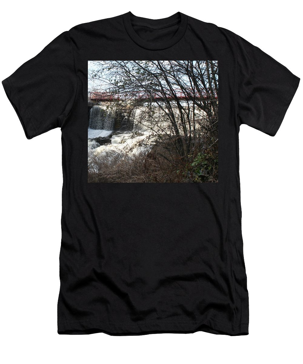 Men's T-Shirt (Athletic Fit) featuring the photograph Foot Bridge 2 by Barbara S Nickerson