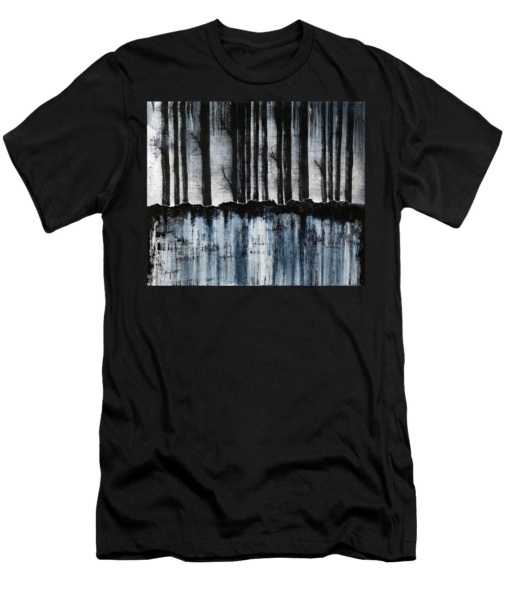 Art Men's T-Shirt (Athletic Fit) featuring the painting Forest 2 by Mauro Celotti