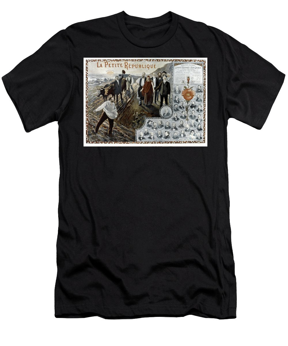 1900 Men's T-Shirt (Athletic Fit) featuring the photograph France: Socialism, 1900 by Granger