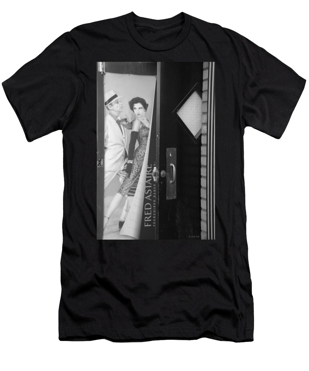 Fred Astaire Men's T-Shirt (Athletic Fit) featuring the photograph Fred And Ginger In Black And White by Rob Hans