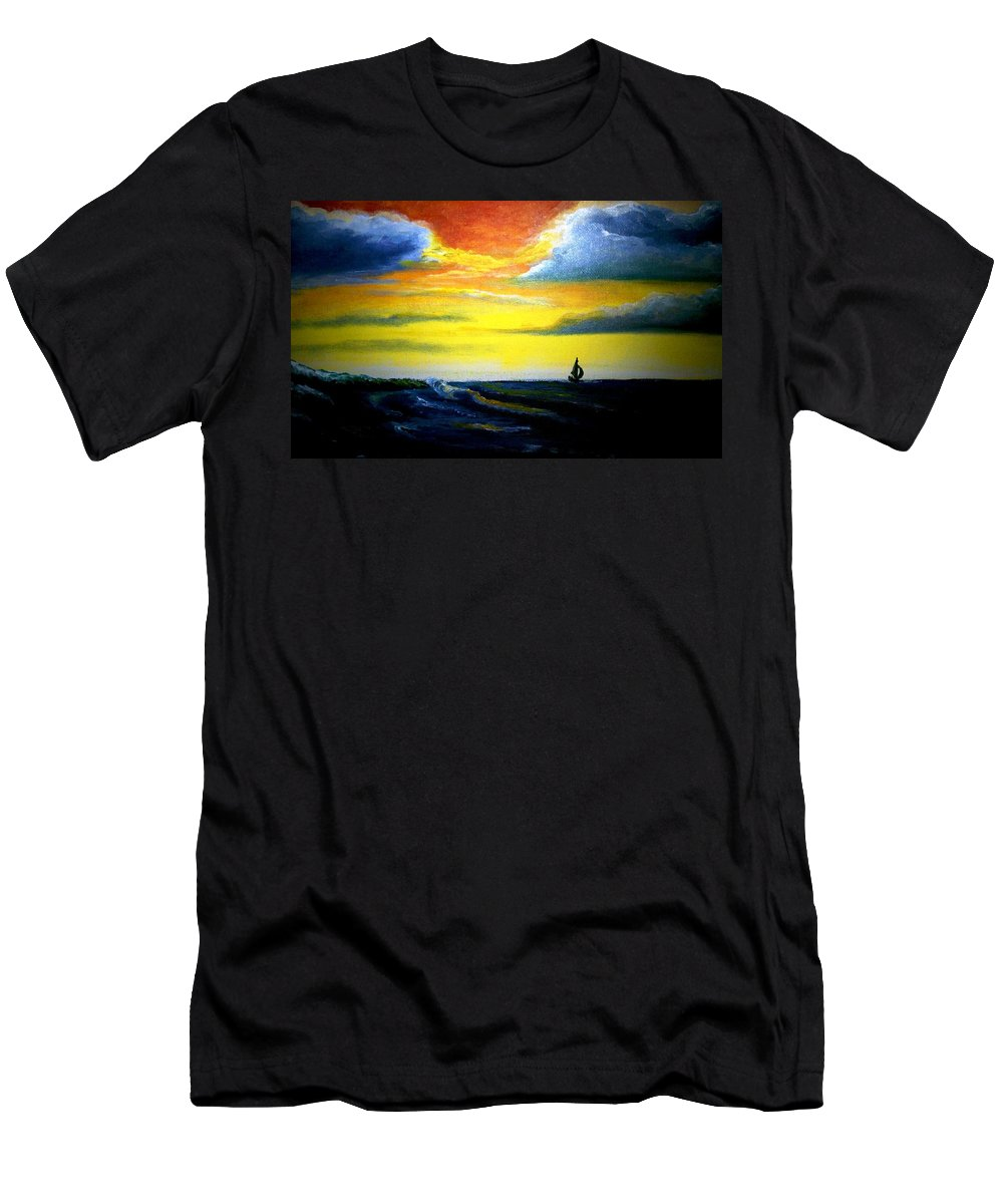 Landscape T-Shirt featuring the painting Freedom by Glory Fraulein Wolfe