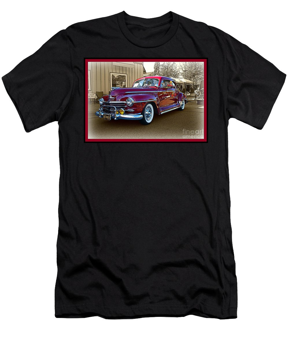 Cars Men's T-Shirt (Athletic Fit) featuring the photograph From Past Times by Randy Harris