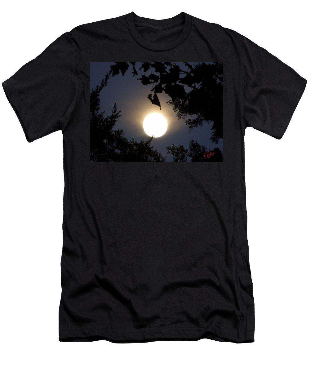 Colette Men's T-Shirt (Athletic Fit) featuring the photograph Full Moon Late Night Spain by Colette V Hera Guggenheim