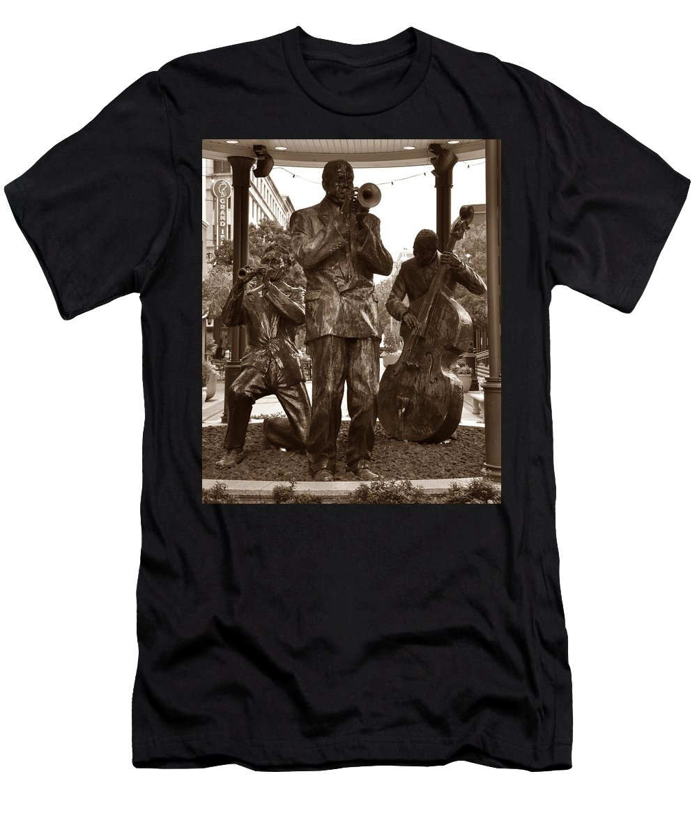 Fulton Square New Orleans Men's T-Shirt (Athletic Fit) featuring the photograph Fulton Square New Orleans by Bill Cannon