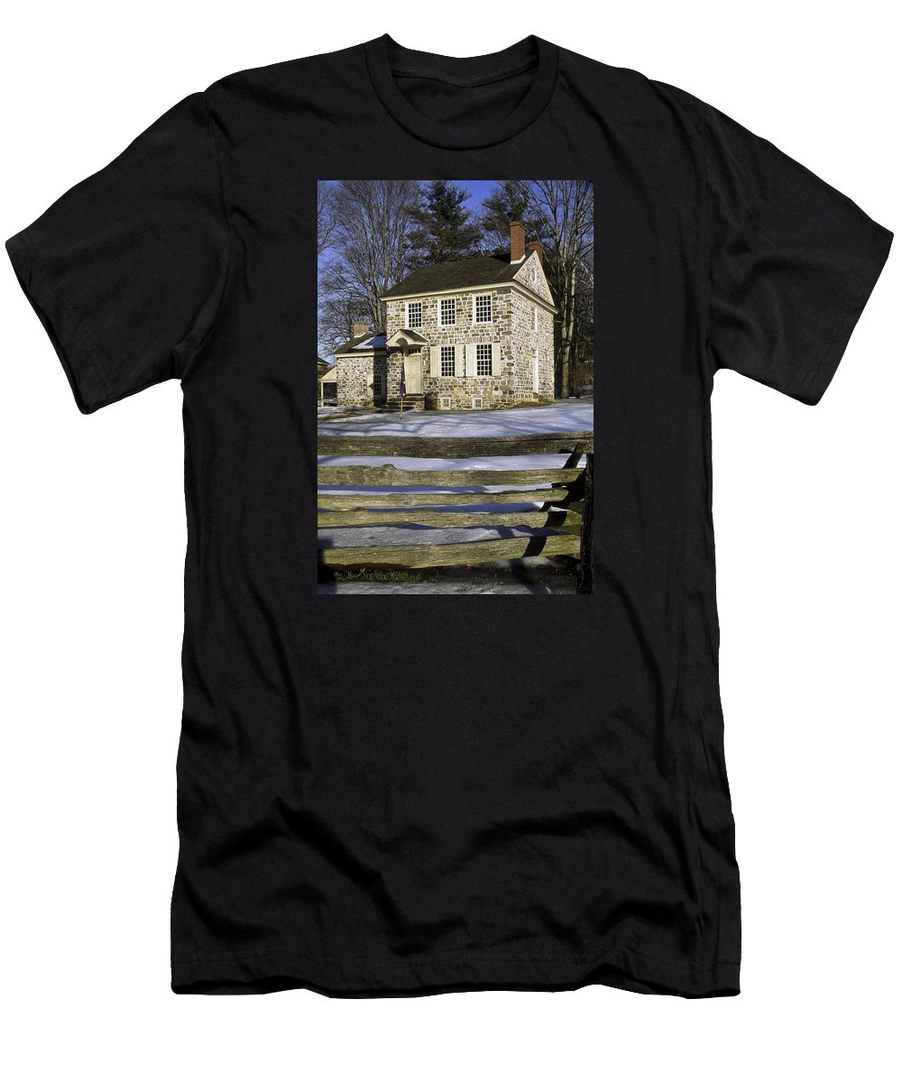 General George Washington's Headquarters Men's T-Shirt (Athletic Fit) featuring the photograph General George Washington Headquarters by Sally Weigand