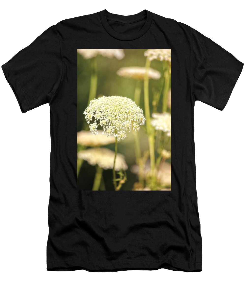 Flowers Men's T-Shirt (Athletic Fit) featuring the photograph Gently by Karol Livote