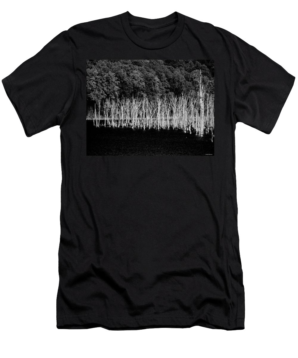 Forest Men's T-Shirt (Athletic Fit) featuring the photograph Ghostwood by Joseph Noonan