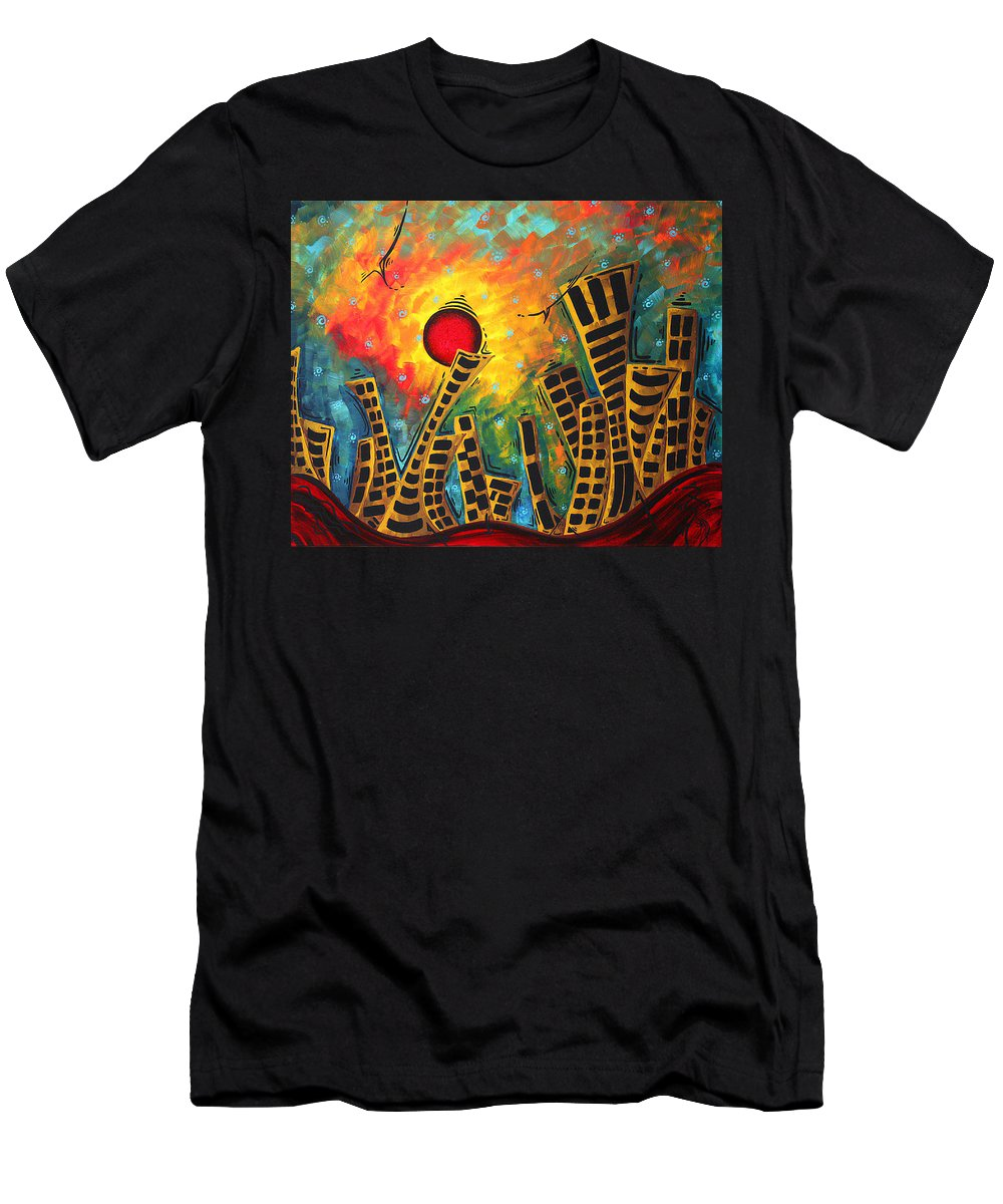 Original Men's T-Shirt (Athletic Fit) featuring the painting Glimmer Of Hope By Madart by Megan Duncanson