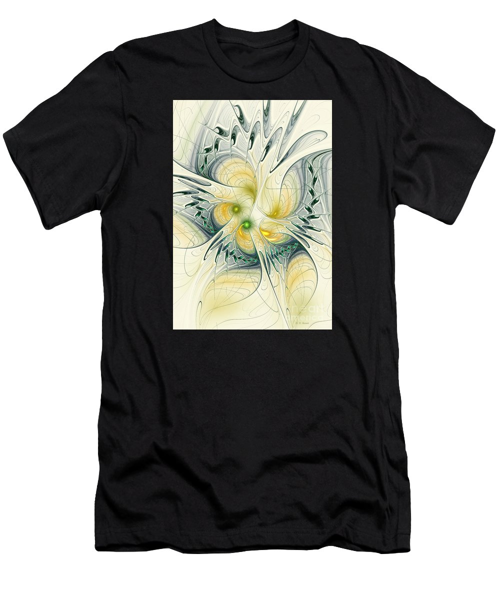 Fractal Men's T-Shirt (Athletic Fit) featuring the digital art Goddess Isis by Deborah Benoit
