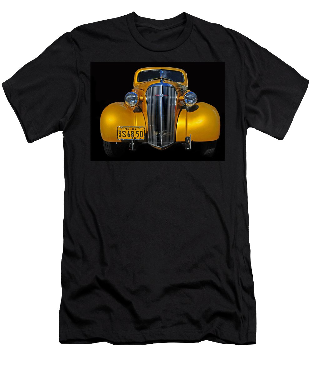 Chevrolet Men's T-Shirt (Athletic Fit) featuring the photograph Golden Chevrolet by Dave Mills