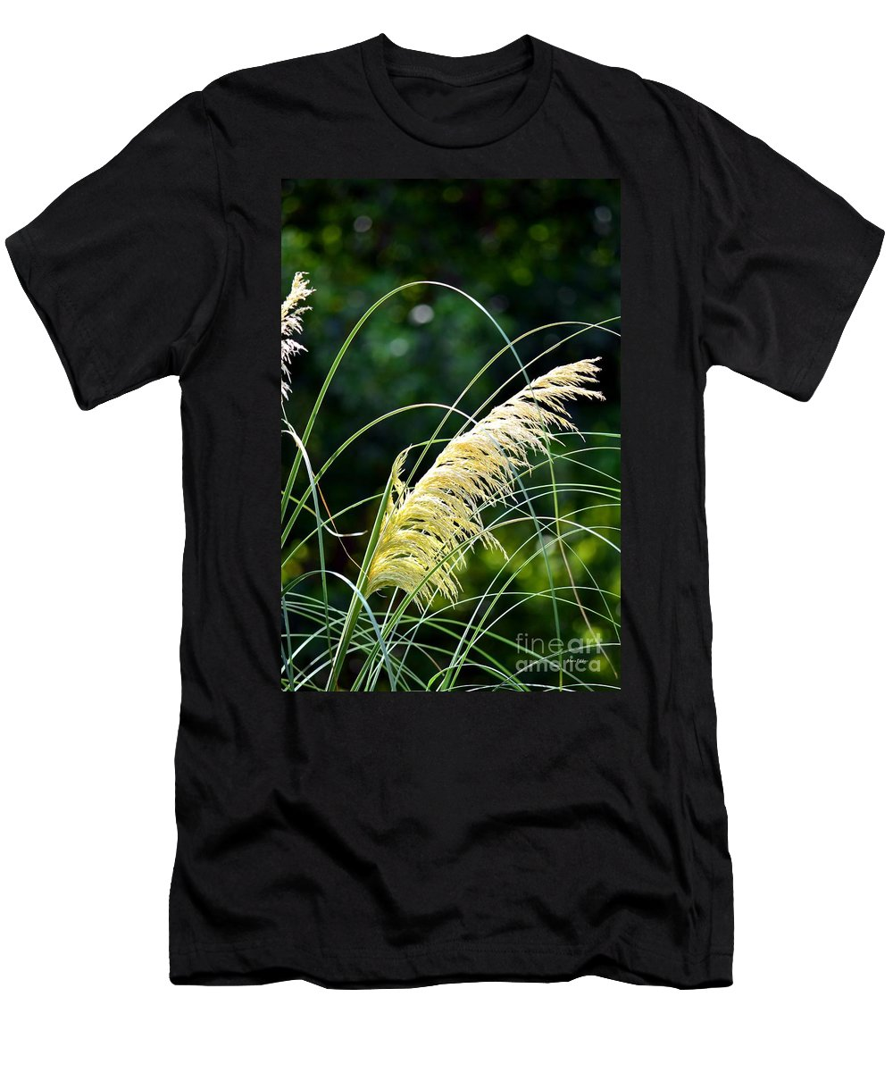 Golden Men's T-Shirt (Athletic Fit) featuring the photograph Golden Feather by Maria Urso