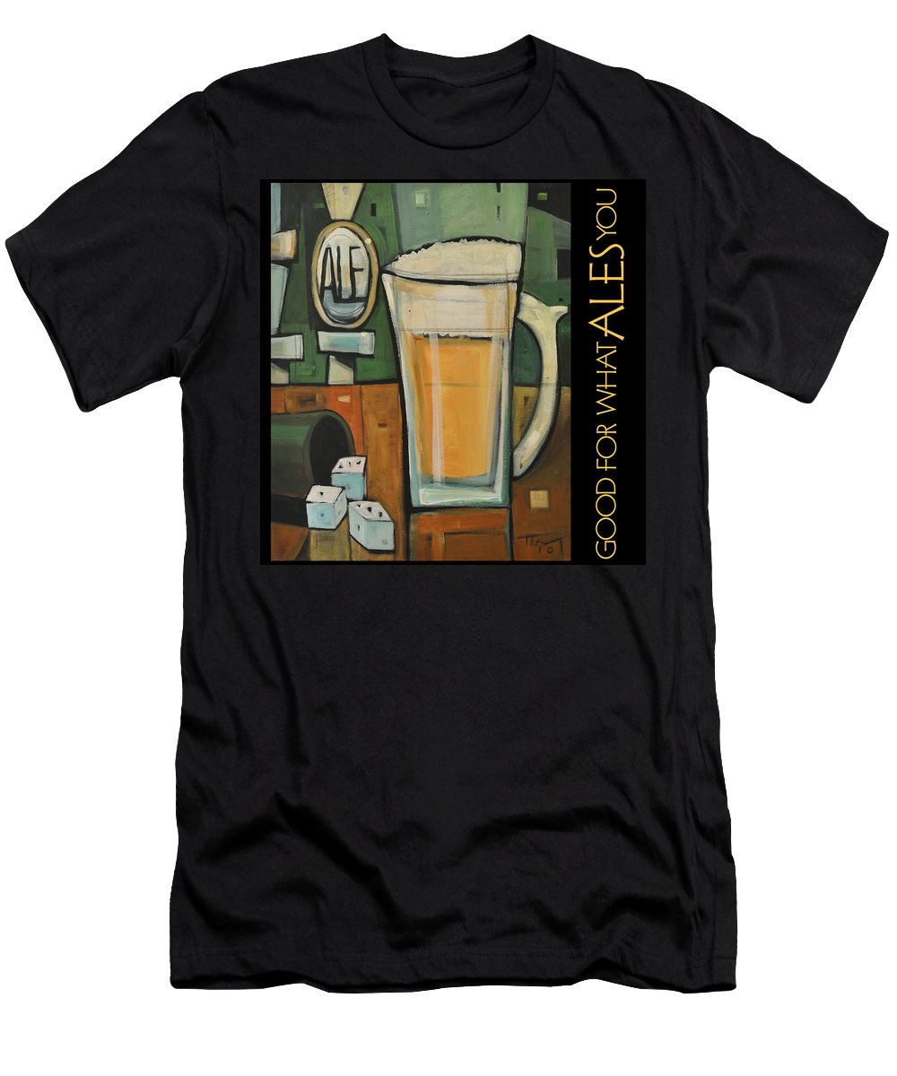 Beverage Men's T-Shirt (Athletic Fit) featuring the painting Good For What Ales You Poster by Tim Nyberg