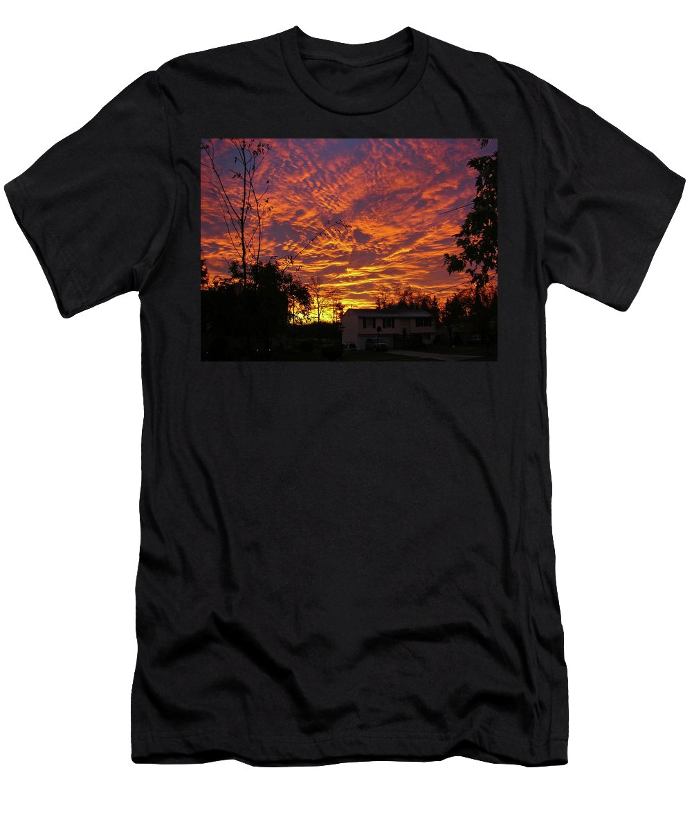 Sky Men's T-Shirt (Athletic Fit) featuring the photograph Good Morning 1973 by Guy Whiteley
