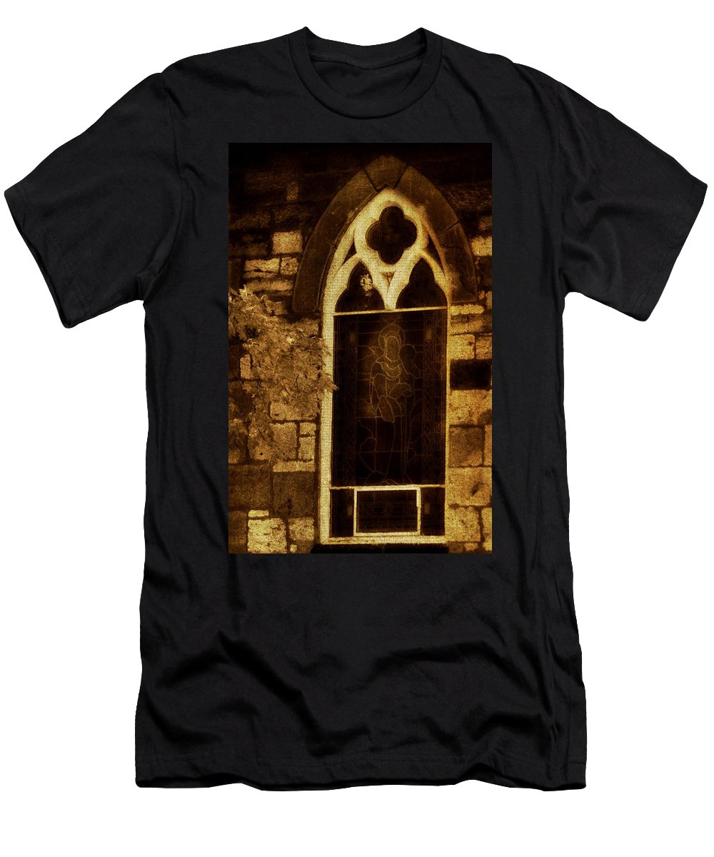 Architecture Men's T-Shirt (Athletic Fit) featuring the photograph Gothic Window by Chris Berry