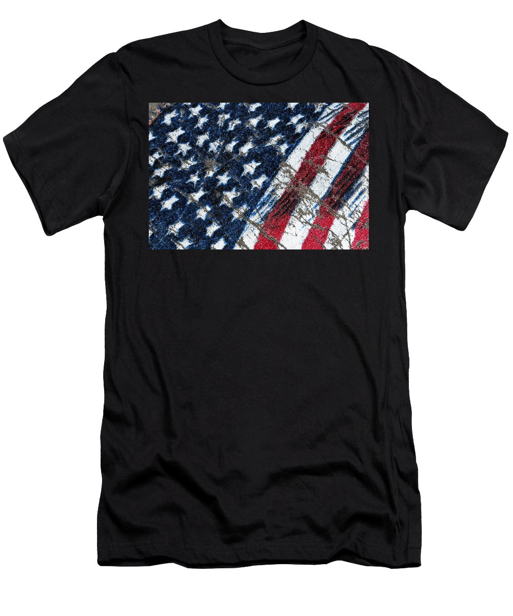 Grand Old Flag Men's T-Shirt (Athletic Fit) featuring the photograph Grand Ol' Flag by Bill Owen