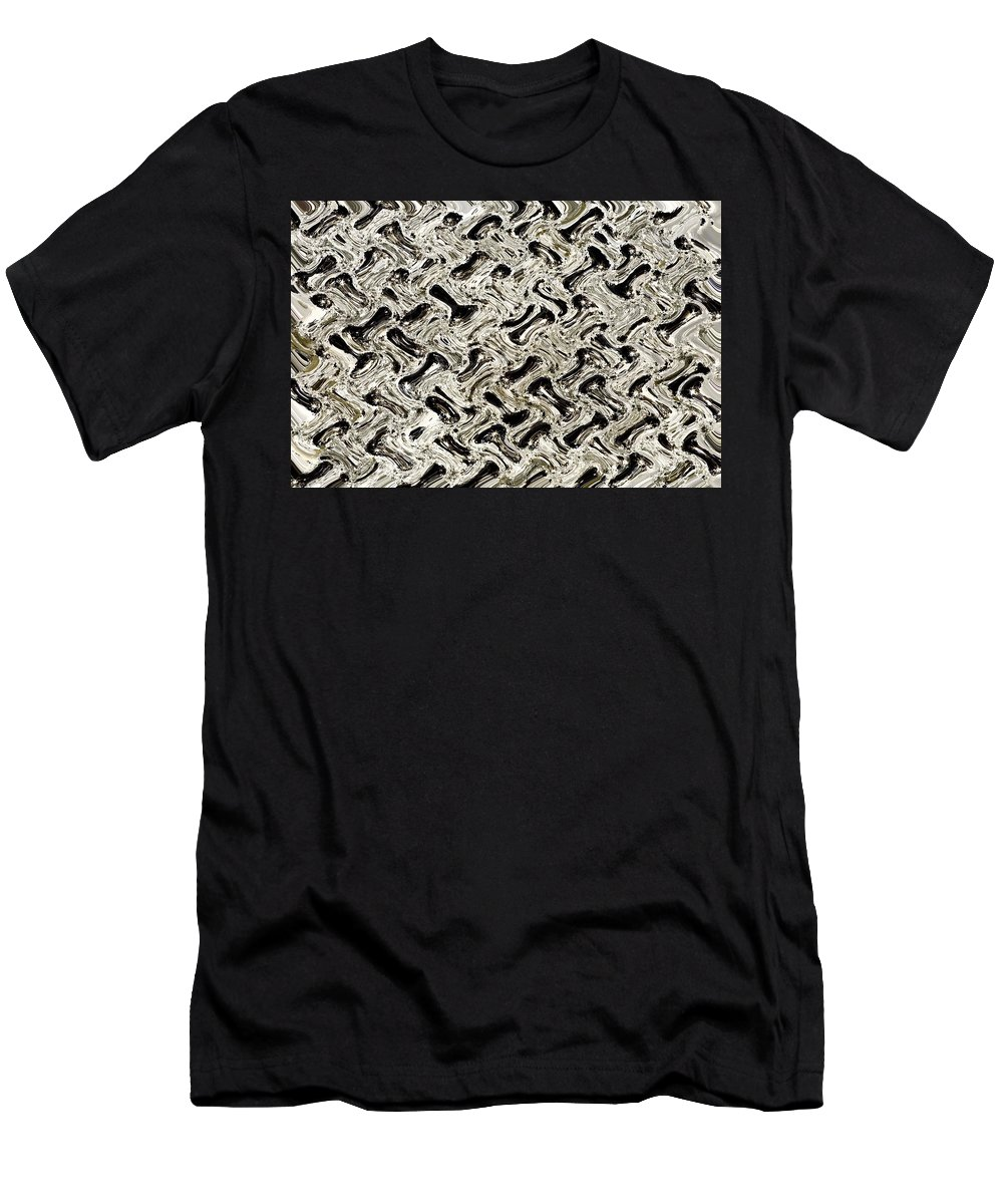 Color Image Men's T-Shirt (Athletic Fit) featuring the photograph Gray Abstract Swirls by David Chapman