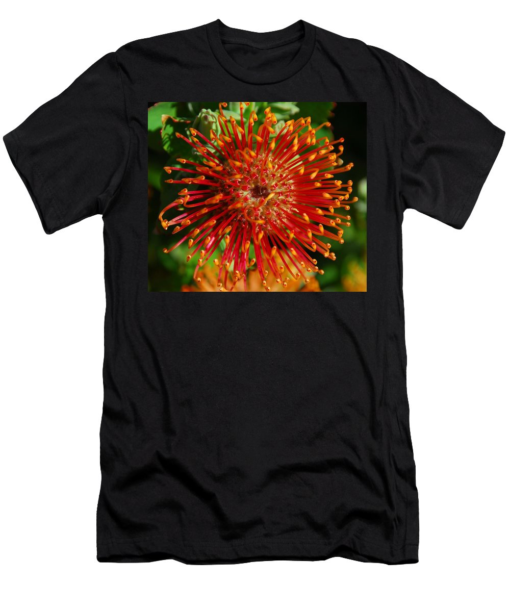 Gum Men's T-Shirt (Athletic Fit) featuring the photograph Gum Flower by Georgiana Romanovna