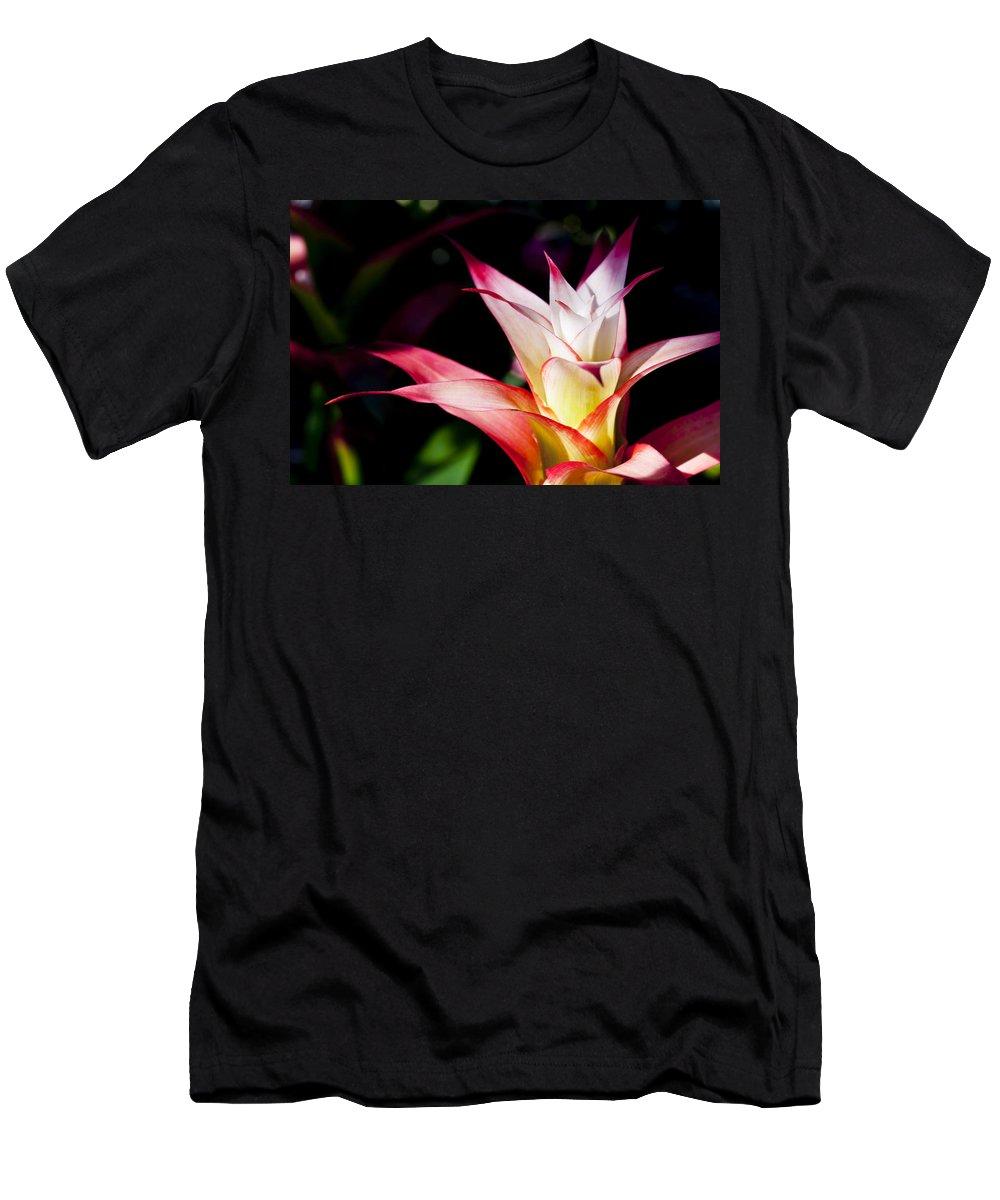 Apache Men's T-Shirt (Athletic Fit) featuring the photograph Guzmania Apache Flower by Joe Carini - Printscapes