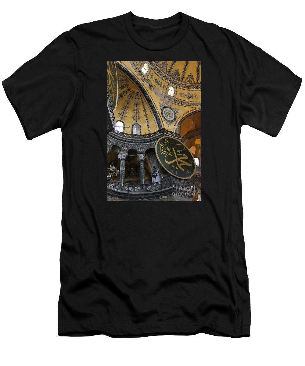 Hagia Sohia Men's T-Shirt (Athletic Fit) featuring the photograph Hagia Sophia Interiour by Christiane Schulze Art And Photography