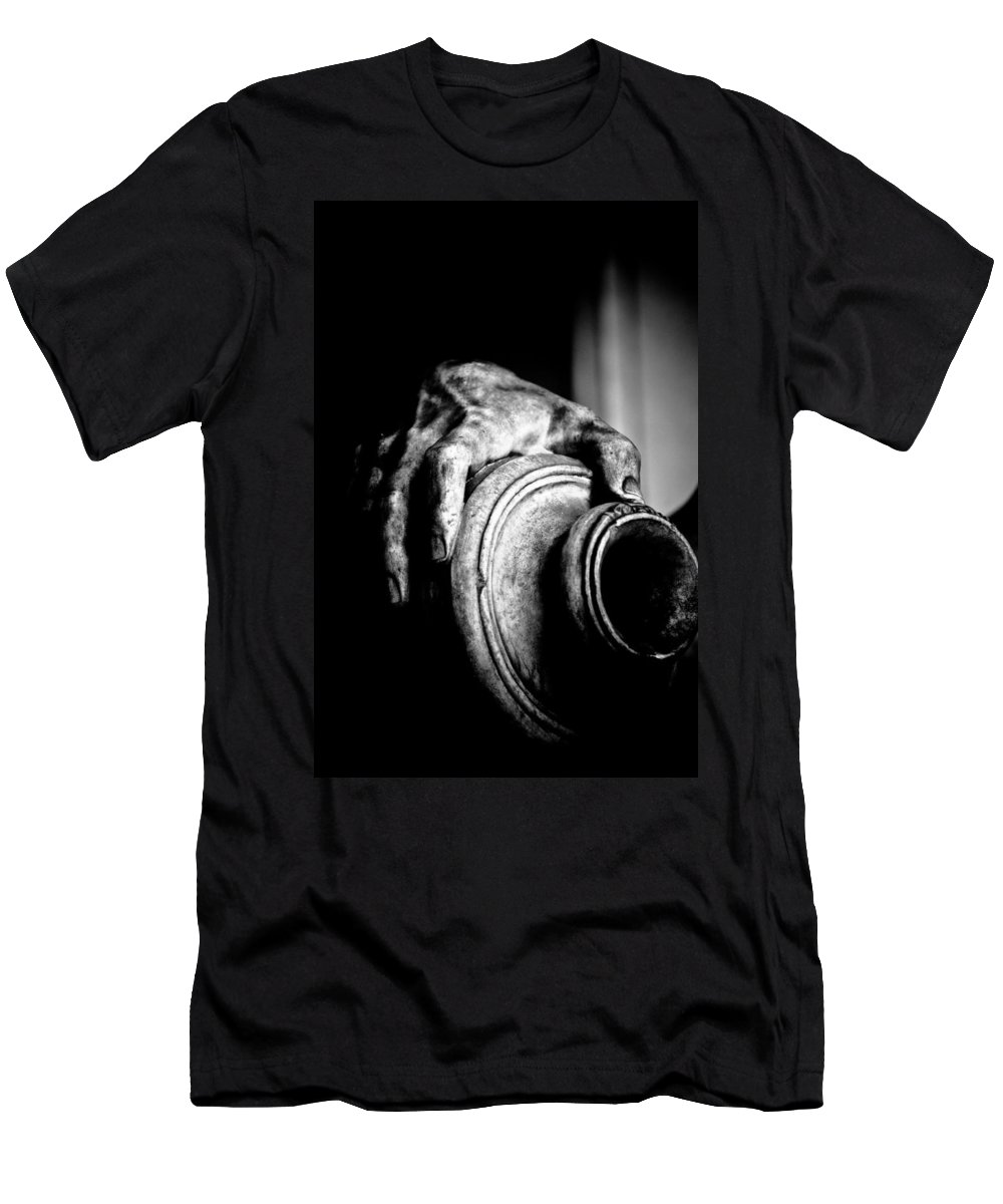 Black Men's T-Shirt (Athletic Fit) featuring the photograph Hand And Vessel by Hakon Soreide