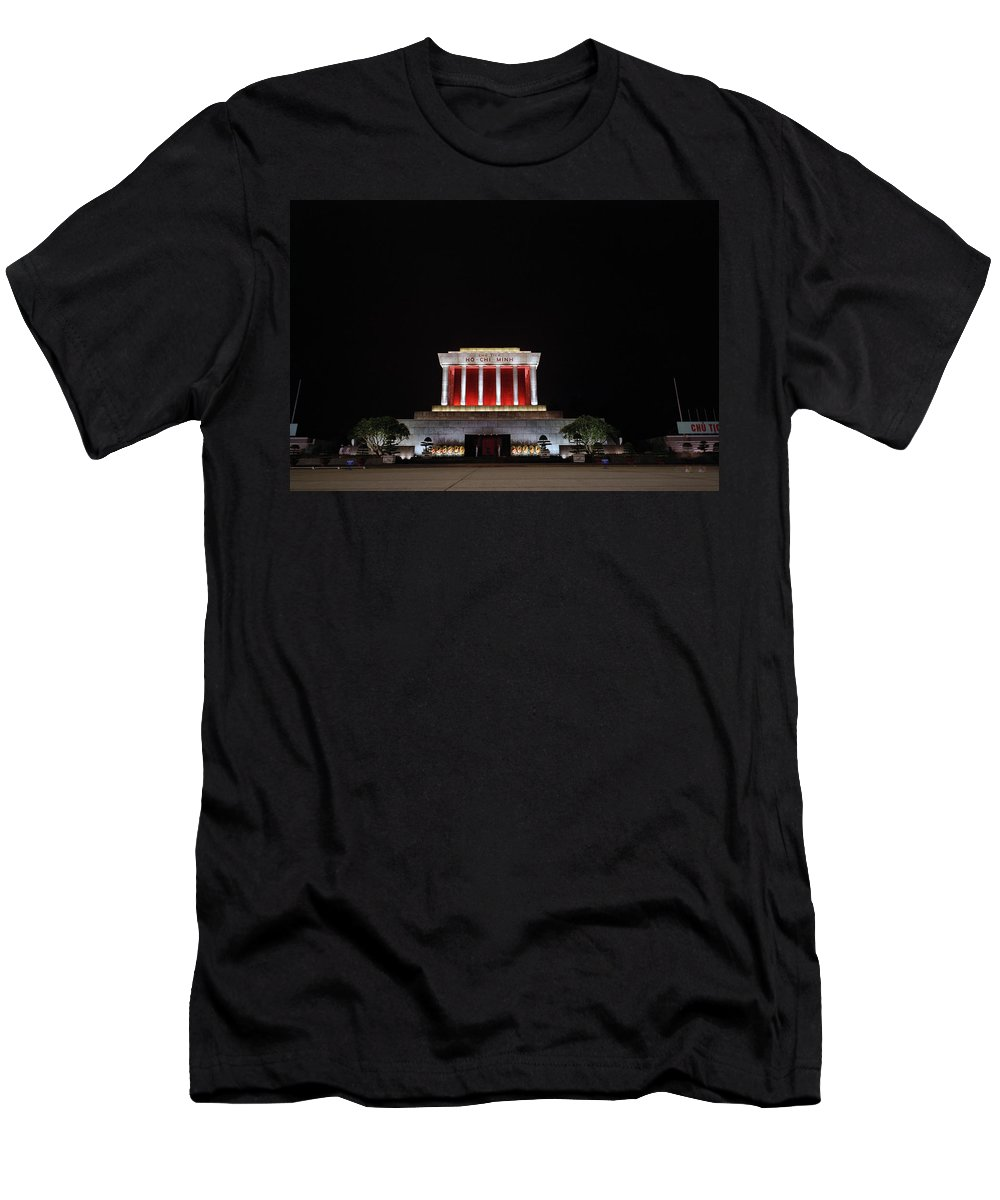 Asia Men's T-Shirt (Athletic Fit) featuring the photograph Hanoi Ho Chi Minh Mausoleum by Shaun Higson