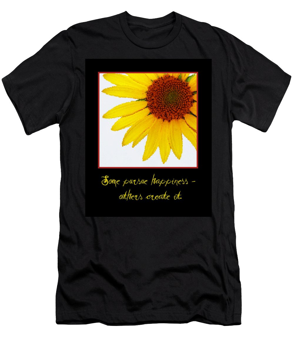 Happiness Men's T-Shirt (Athletic Fit) featuring the digital art Happiness by Tina Meador