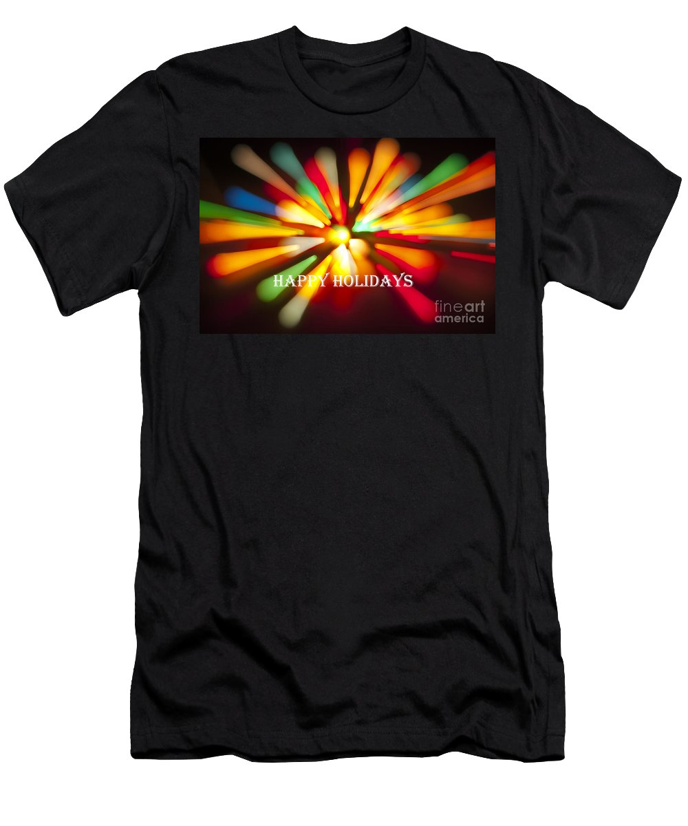 Happy Holidays Men's T-Shirt (Athletic Fit) featuring the photograph Happy Holidays Card by Glenn Gordon