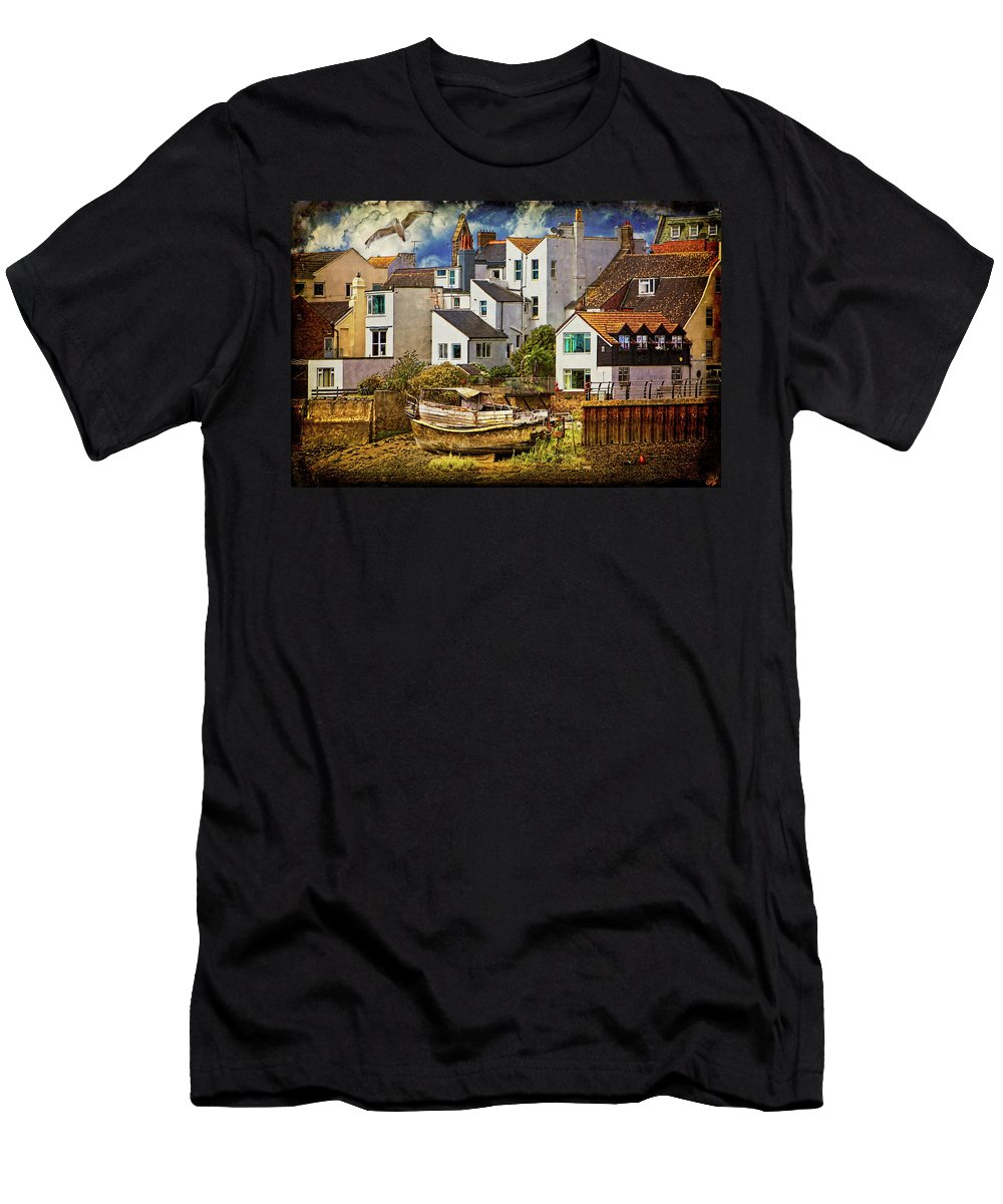 Harbor Men's T-Shirt (Athletic Fit) featuring the photograph Harbor Houses by Chris Lord