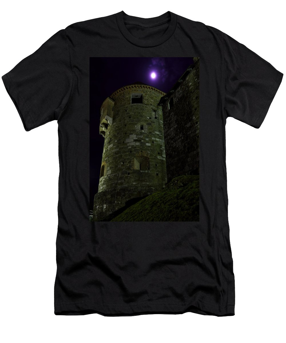 Castle Men's T-Shirt (Athletic Fit) featuring the photograph Haunted Tower by Ivan Slosar