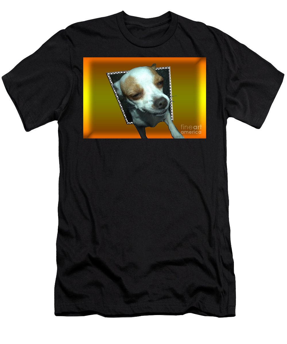 Animal Men's T-Shirt (Athletic Fit) featuring the photograph Help I'm Falling by Donna Brown