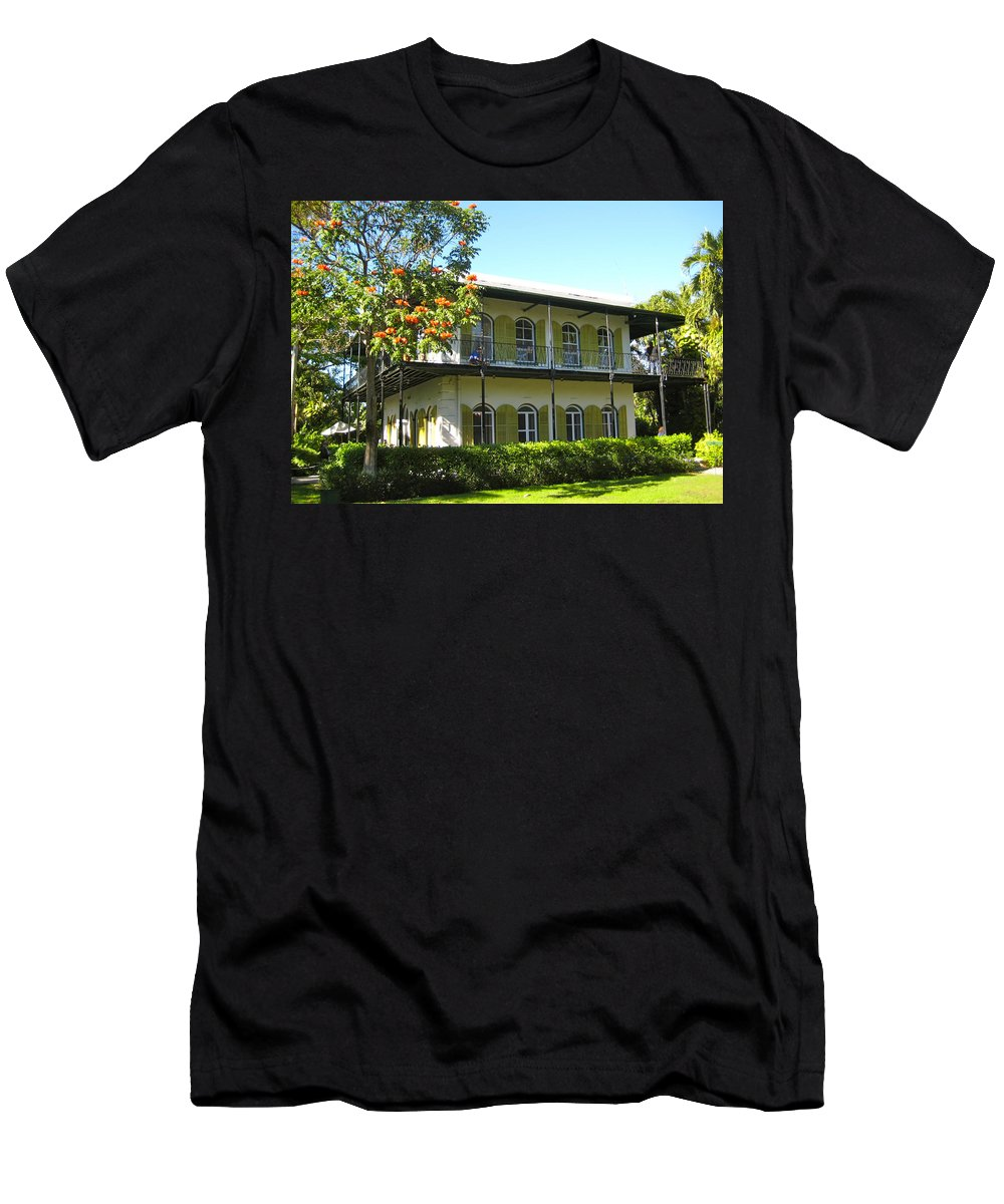 Key West Men's T-Shirt (Athletic Fit) featuring the photograph Hemingway's House by Eric Tressler