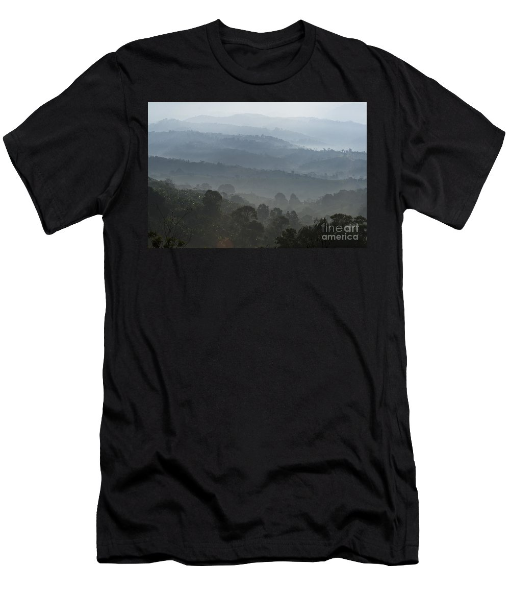 Landscape Men's T-Shirt (Athletic Fit) featuring the photograph Hilly Country by Heiko Koehrer-Wagner