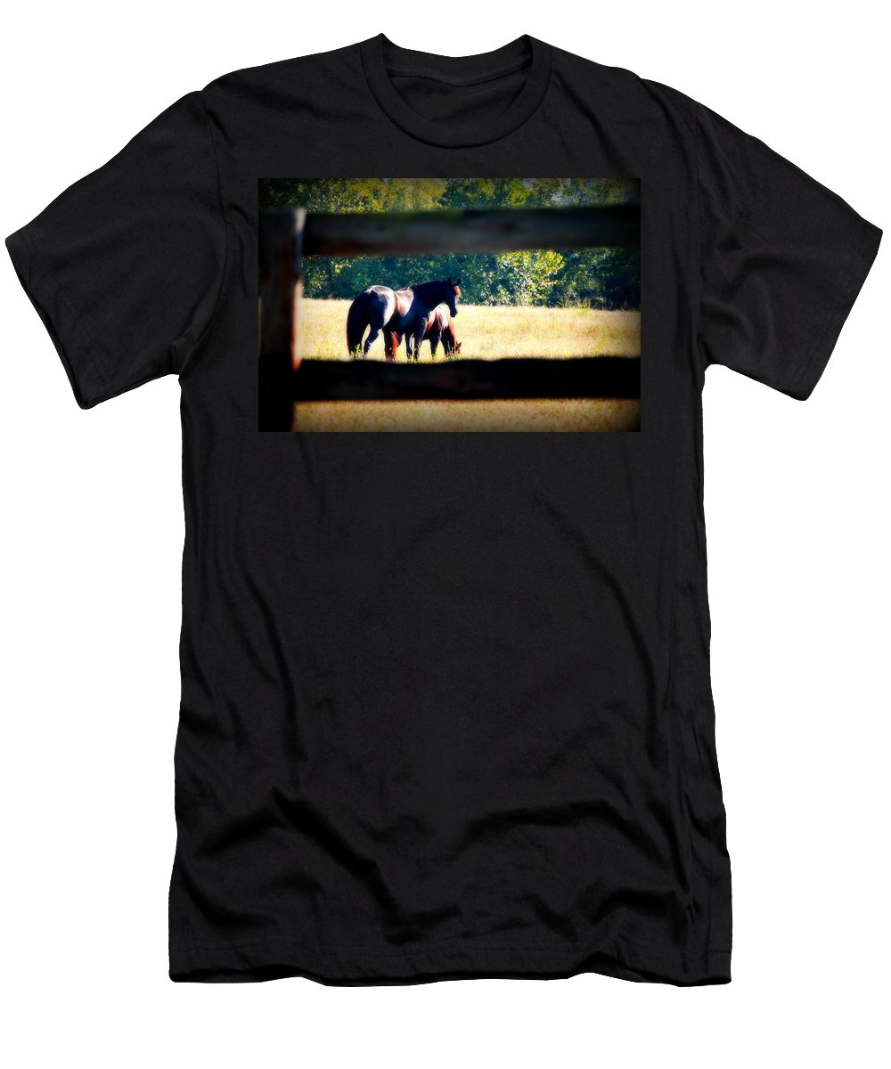 Horse Men's T-Shirt (Athletic Fit) featuring the photograph Horse Photography by Peggy Franz