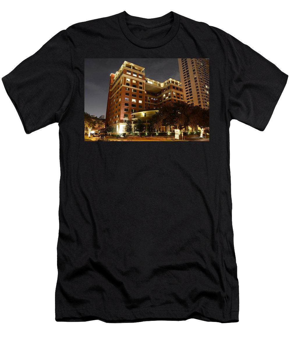 Hotel Zaza Men's T-Shirt (Athletic Fit) featuring the photograph Hotel Zaza by David Morefield