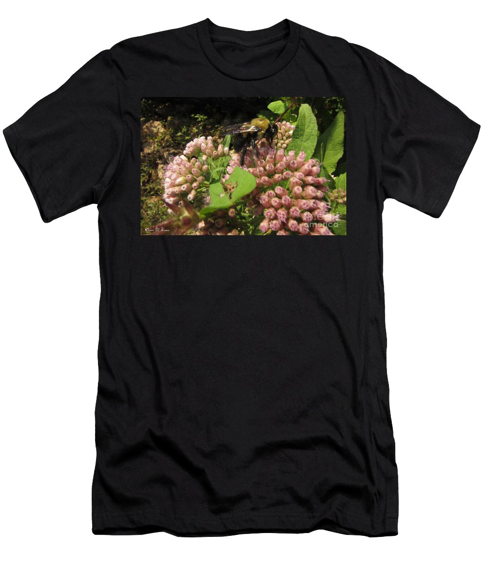 Insect Men's T-Shirt (Athletic Fit) featuring the photograph Huge Bumble Bee by Donna Brown