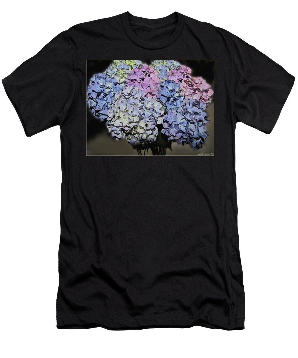 Nature Men's T-Shirt (Athletic Fit) featuring the photograph Hydrangea Boquet by Debbie Portwood