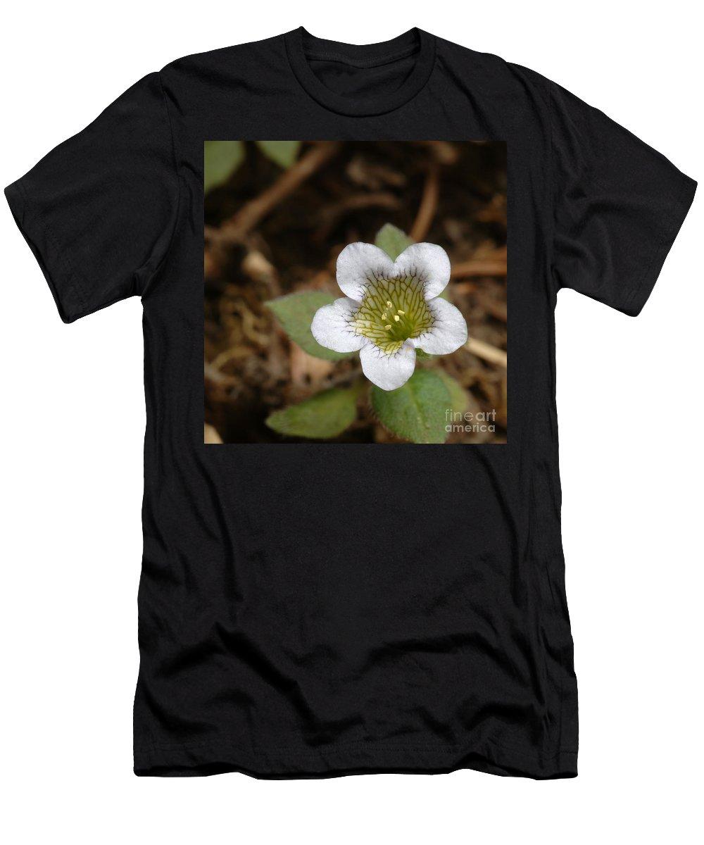Flora Men's T-Shirt (Athletic Fit) featuring the photograph Hyoscyamus Flower by Raul Gonzalez Perez